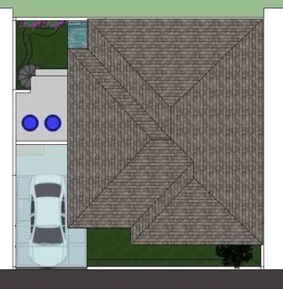 photo tampak atas rumah tinggal  margahayu  desain