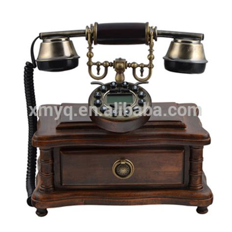 Retro Wooden Box With Drawer Phone 2017 retro design caller id phone fixed fashioned