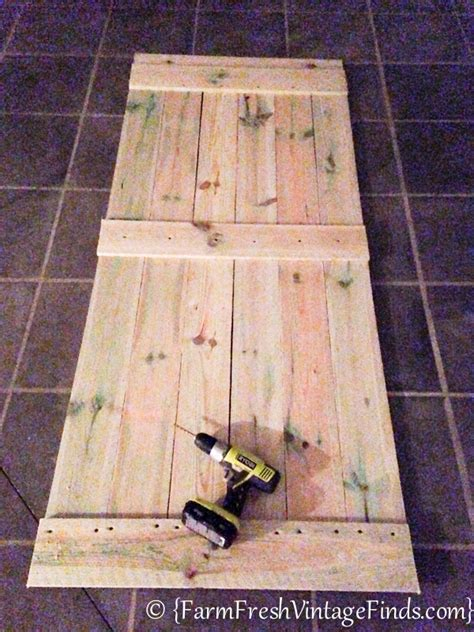 How To Make A Barn Door How To Build A Barn Door For Around 20 Bucks Farm Fresh Vintage Finds