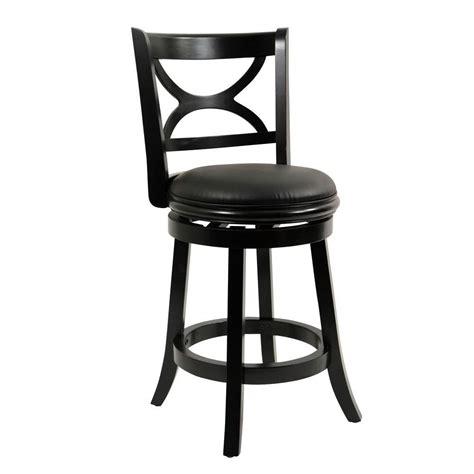 cushioned bar stool boraam florence 24 in black swivel cushioned bar stool