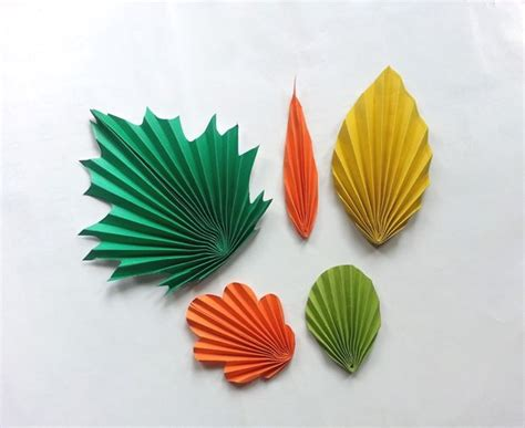 Paper Leaves - diy paper leaves pattern trick master of