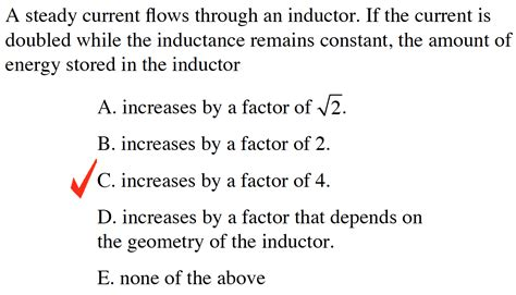 energy stored in inductor in steady state a steady current flows through an inductor if the chegg