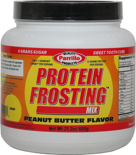 protein peanut butter protein frosting mix peanut butter parrillo performance