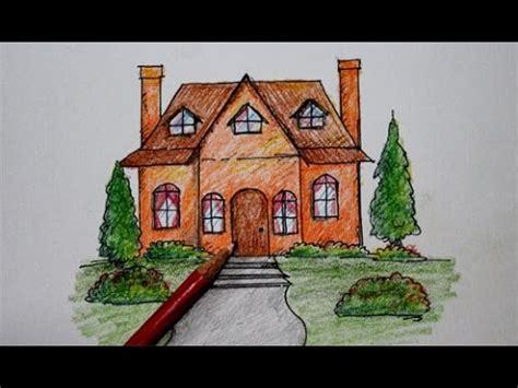 Pensil Kayu Kartun cara menggambar rumah kartun