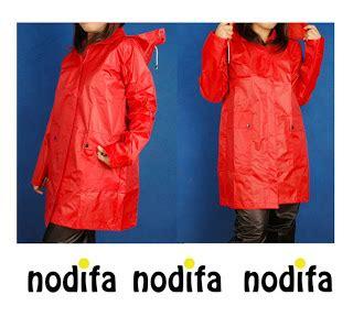 Elfs Jas Hujan Simple Hitam nodifa fashionable coat jas hujan wanita nodifa
