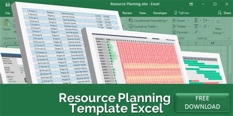 resource planning template excel