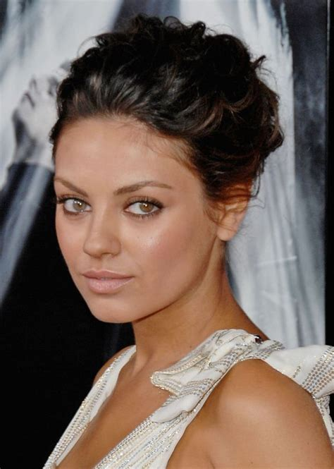 Mila Kunis Hairstyle by Mila Kunis Makeup And Updo On