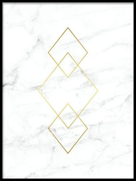 Triangle Marble by Triangle Gold Marble Guldplakater Desenio Dk