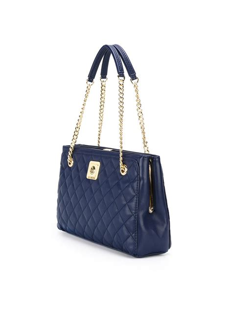 Quilted Bag by Moschino Quilted Shoulder Bag In Blue Lyst