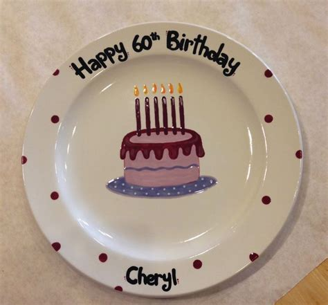 color me mine birthday 18 best birthday commemorative plates custom order images
