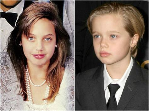 Brad Pitt And Shiloh The Most Beautiful Picture by Twinning So 9 Who Look So Much Like Their