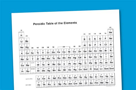 printable periodic table image worksheet wednesday printable periodic table paging