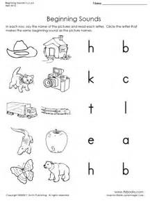 beginning sounds of h c t a and b