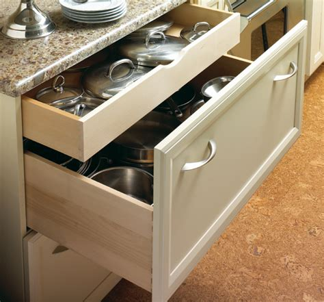 pots and pans drawer kitchen cabinets with functional comfort plain fancy