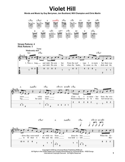 coldplay violet hill chords violet hill by coldplay easy guitar tab guitar instructor
