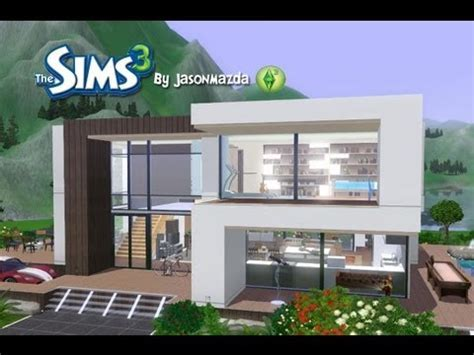 sims 3 modern house floor plans the sims 3 building a modern house high hill house