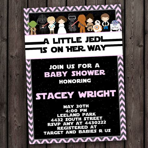 Wars Baby Shower by Wars Baby Shower Invitation Customized Wording