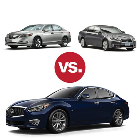 comparison shop infiniti q70 v lexus gs 350 v acura rlx