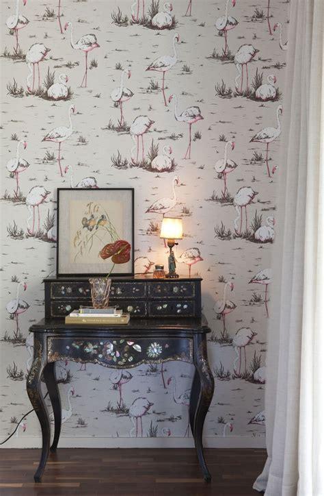 flamingo wallpaper room 17 best images about living room wallpaper on pinterest