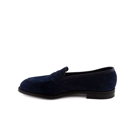 loafer suede loafer edward green ventnor in indigo suede with mask