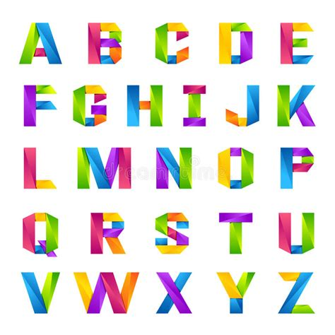 font design application fun english alphabet one line colorful letters set stock