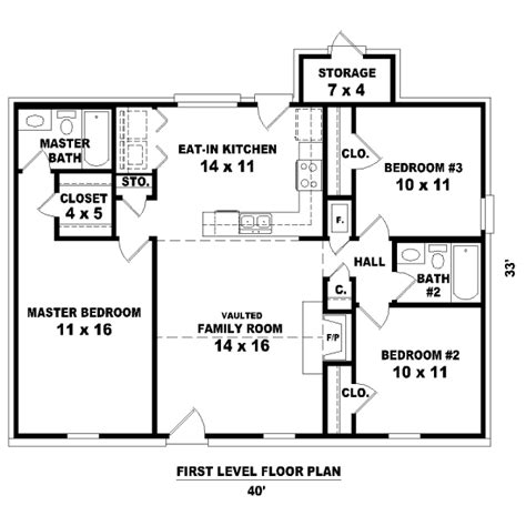 housing blueprints floor plans house 32146 blueprint details floor plans