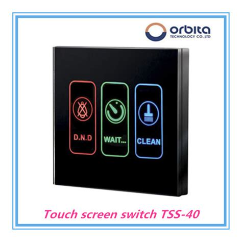 touch screen light switch orbita intelligent light system touch screen light