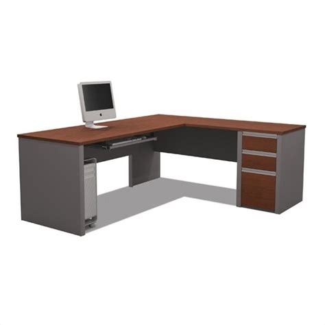 couch connexion bestar connexion l shaped workstation with 1 pedestal in