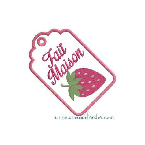 etiquette fait maison etiquette fraise