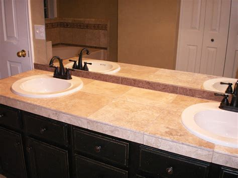 Tile Bathroom Countertop Ideas by Fresh Entranching Tile Bathroom Countertop Ideas Wit 19481