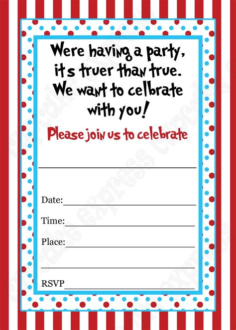 free dr seuss invitation templates 40th birthday ideas blank birthday invitation templates free
