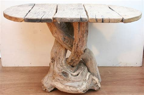 driftwood dining table driftwood patio rustic table 4 seater garden furniture ebay