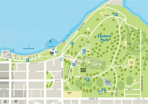 Botanic Gardens Map Geelong Botanic Gardens Visitor Map City Of Greater Geelong