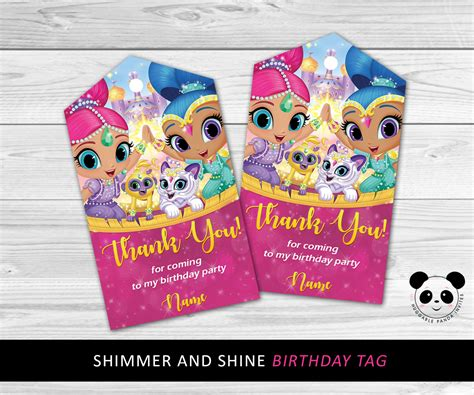 Shimmer For In This New Like Label by Shimmer And Shine Thank You Tags Shimmer And Shine Birthday