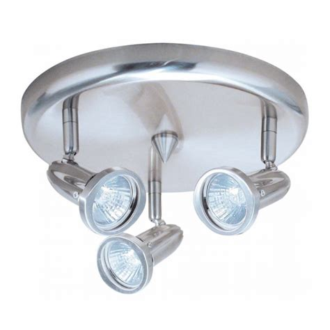 Halogen Ceiling Light Fittings Chrome Ceiling Fitting With Three 50w Gu10 Halogen Bulbs