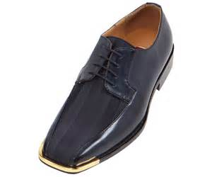 bolano mens navy oxford striped satin dress shoe w gold tip style 174gt 002 ebay