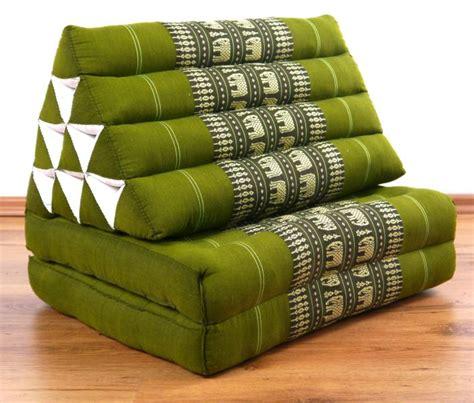Thai Mat by Foldable Thai Mat 2 Fold Triangle Asia Cushion Headrest 100 Kapok Filling Ebay