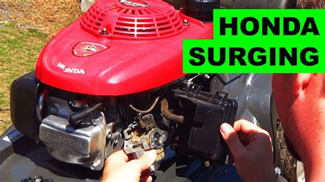 easy honda hrx lawn mower surging fix youtube