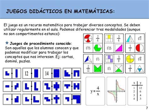 juegos matemticos y de juegos didacticos