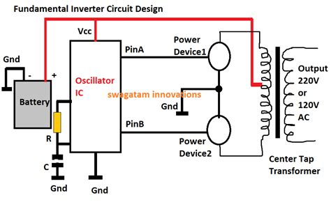 12v to 120v inverter circuit diagram 35v inverter circuit