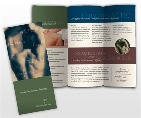 chiropractic brochures template therapy brochure sles quotes