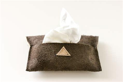 tissue pouch diy leather travel tissue pouch tutorial