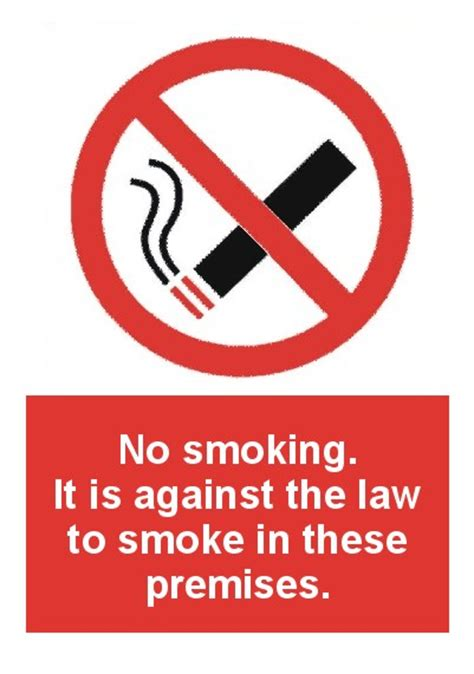 no smoking signs the law no smoking it is against the law to smoke in these premises