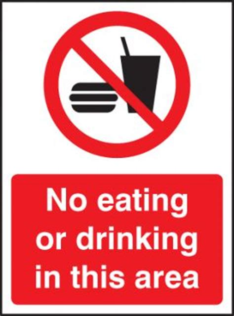 eating and drinking area safety signs signstoyou com no eating or drinking in this area sign rigid plastic