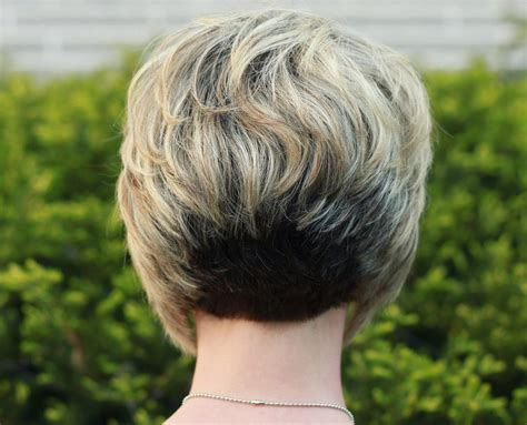 back of short inverted bob with sides behind ears my hair your questions answered styling tips love