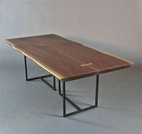 Hand Crafted Live Edge Dining Table. Book Matched Walnut Slabs. by Bernwood Custom Design