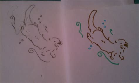 sea otter tattoo otter i want it in color but with the detail of