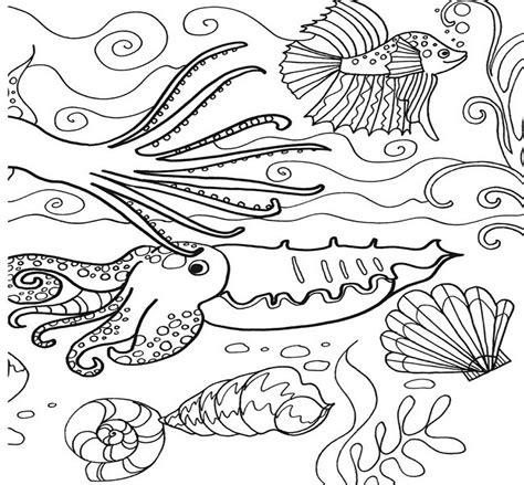 free fish under the sea coloring pages