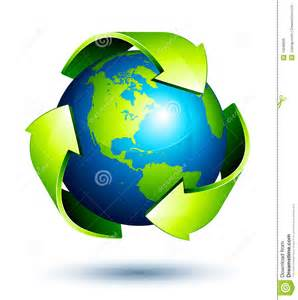 recycling le global recycling stock vector image of around closeup