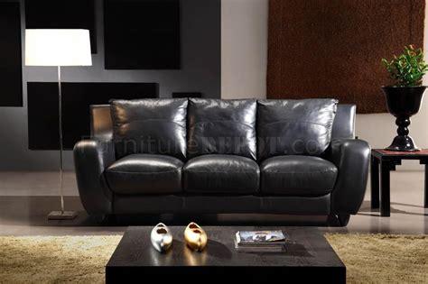 Italian Leather Living Room Sets Black Italian Leather 3pc Modern Living Room Set